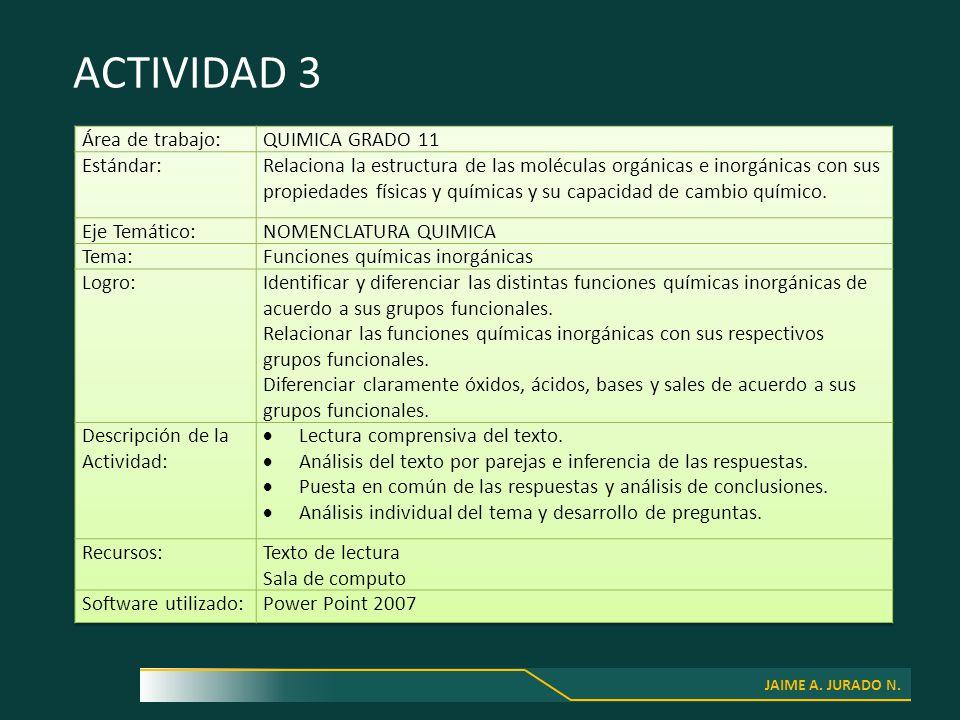 JAIME A. JURADO N. ACTIVIDAD 3