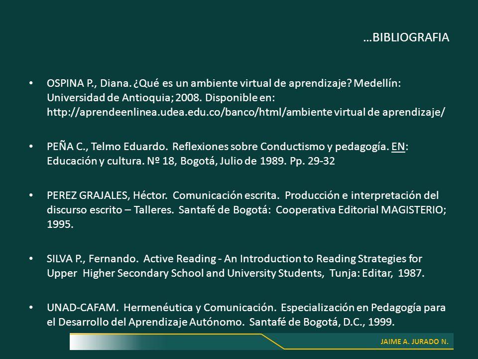 JAIME A. JURADO N. …BIBLIOGRAFIA OSPINA P., Diana.