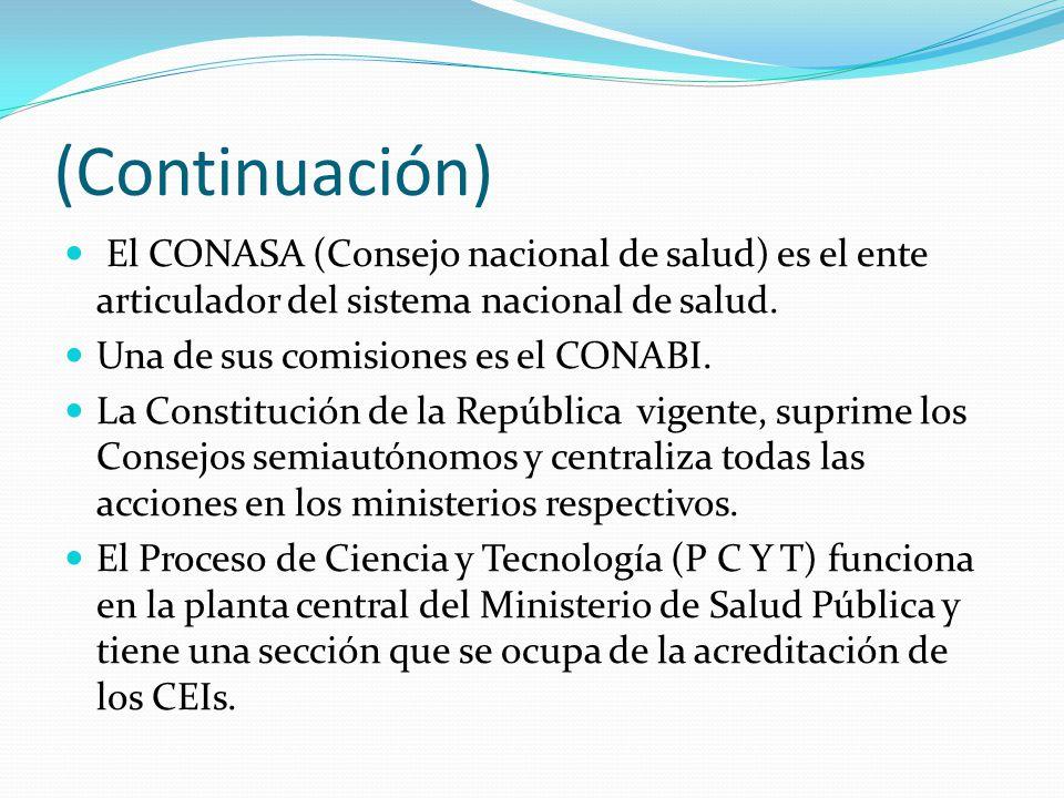 (Continuación) El CONASA (Consejo nacional de salud) es el ente articulador del sistema nacional de salud.