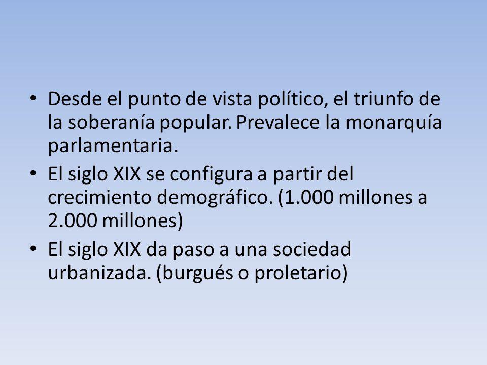 Desde el punto de vista político, el triunfo de la soberanía popular.