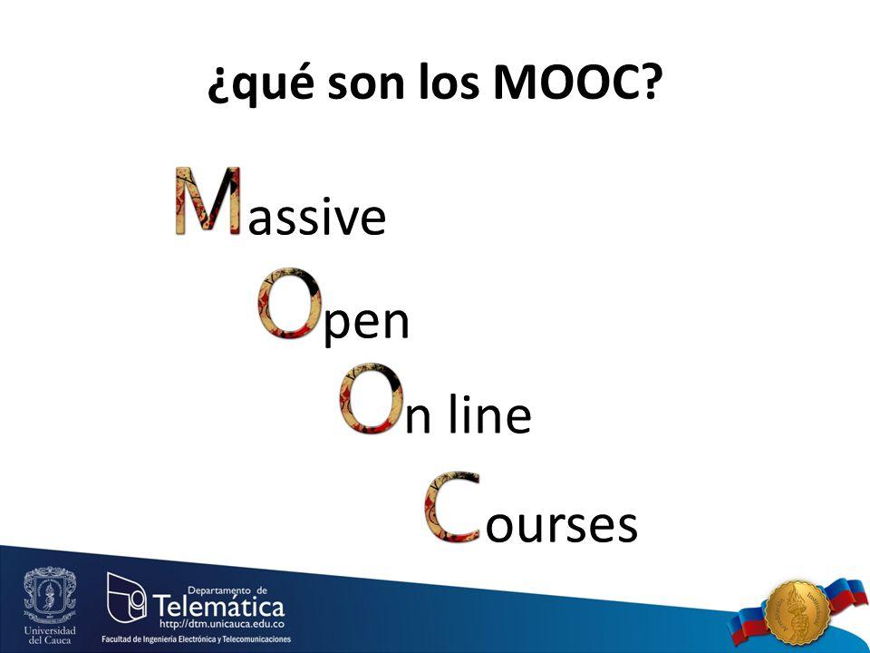 n line ¿qué son los MOOC