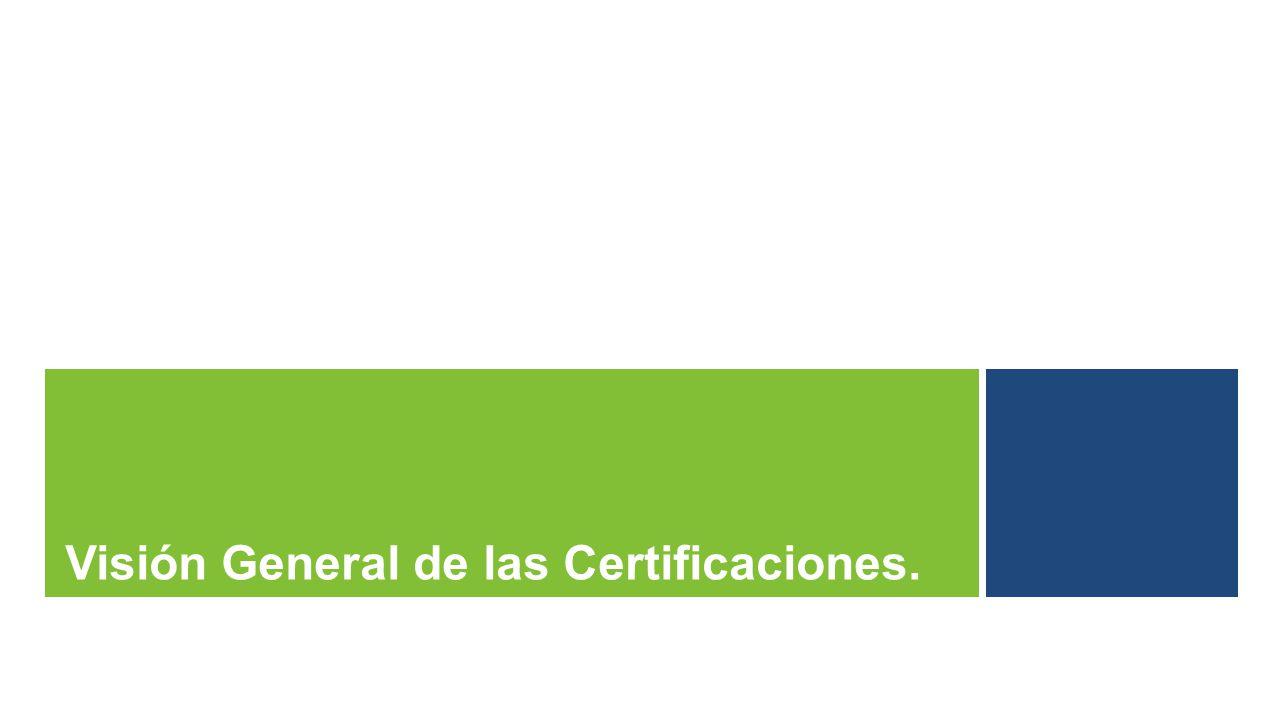 Visión General de las Certificaciones.
