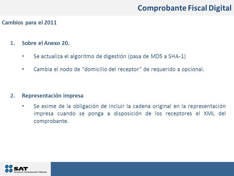1.Sobre el Anexo 20.