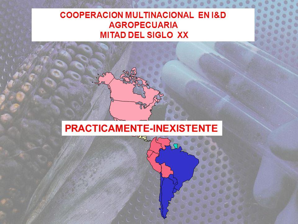 COOPERACION MULTINACIONAL EN I&D AGROPECUARIA MITAD DEL SIGLO XX PRACTICAMENTE-INEXISTENTE