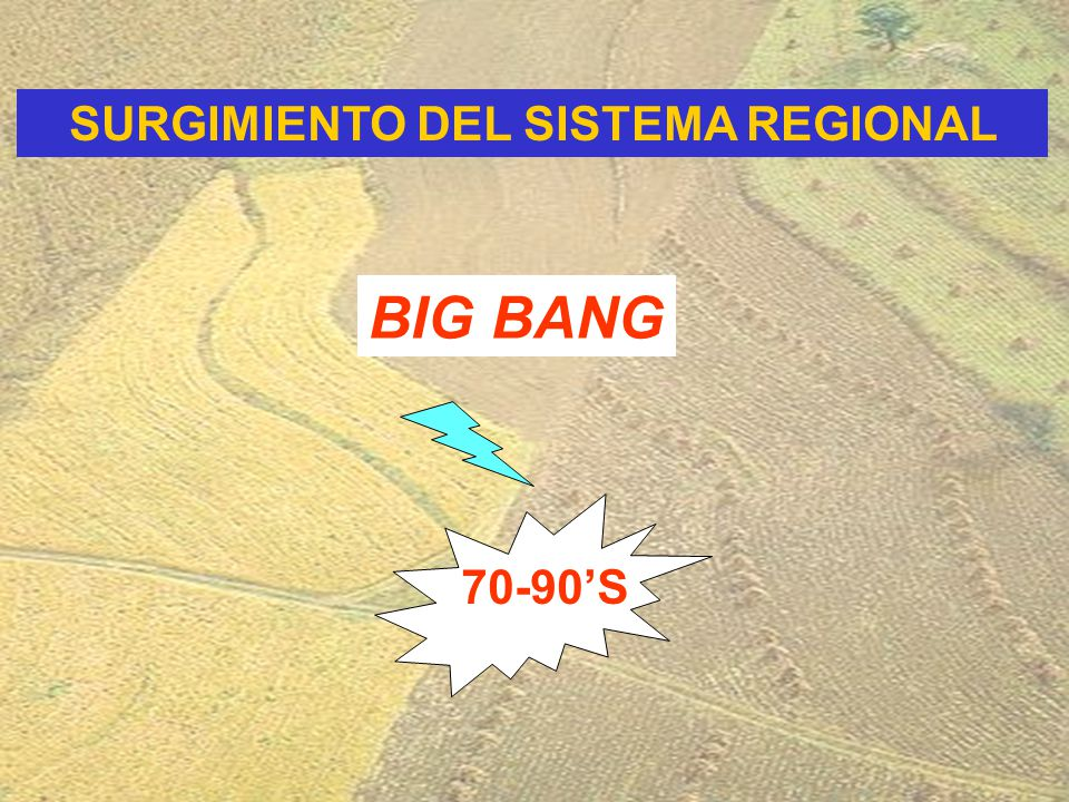 BIG BANG SURGIMIENTO DEL SISTEMA REGIONAL 70-90'S