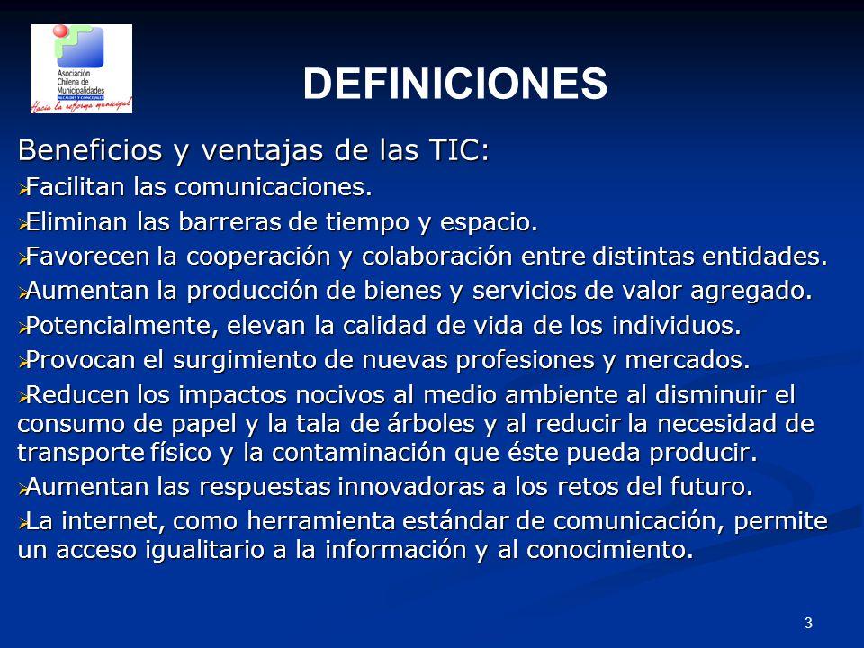 3 Beneficios y ventajas de las TIC:  Facilitan las comunicaciones.