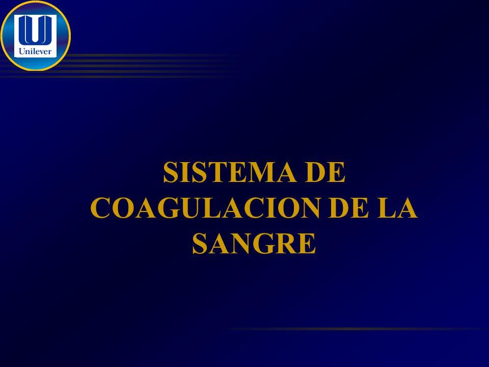 SISTEMA DE COAGULACION DE LA SANGRE