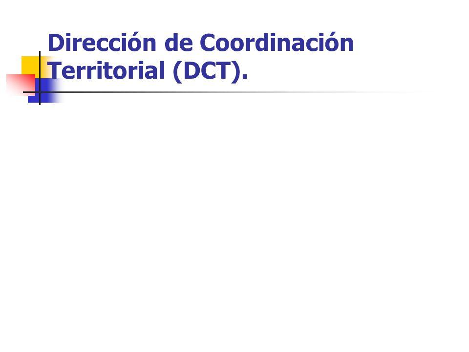 Dirección de Coordinación Territorial (DCT).