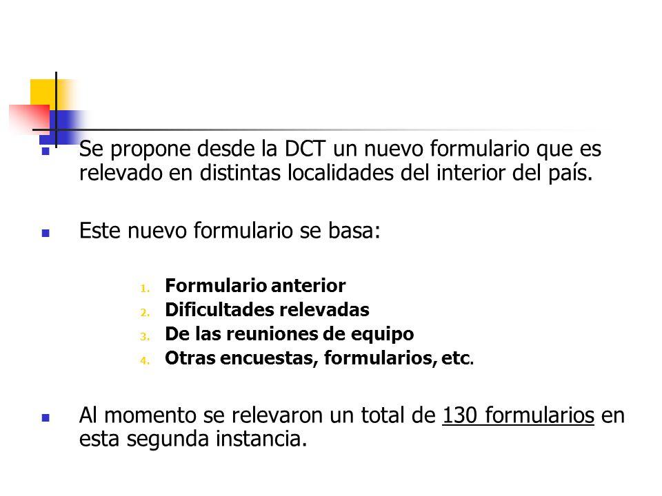 Se propone desde la DCT un nuevo formulario que es relevado en distintas localidades del interior del país.