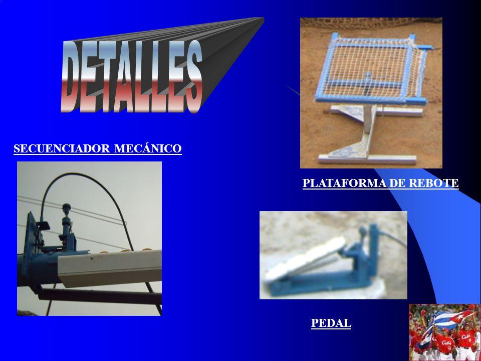PLATAFORMA DE REBOTE SECUENCIADOR MECÁNICO PEDAL