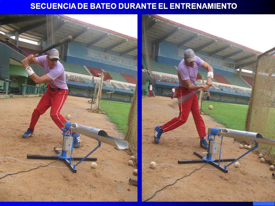 SECUENCIA DE BATEO DURANTE EL ENTRENAMIENTO