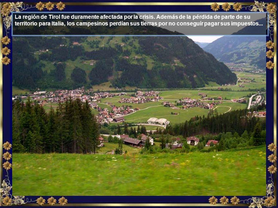En 1933, tras la primera Guerra Mundial, Austria vivía bajo fuerte crisis económica.