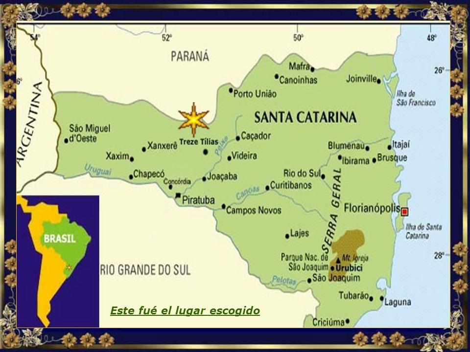 Después de investigar varios países suramericanos, la decisión recayó sobre el interior del Estado de Santa Catarina, en Brasil, dada la belleza de la región y su semejanza con el Vale de Tirol, en Austria...
