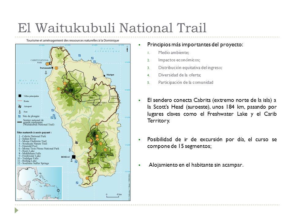 El Waitukubuli National Trail  Principios más importantes del proyecto: 1.