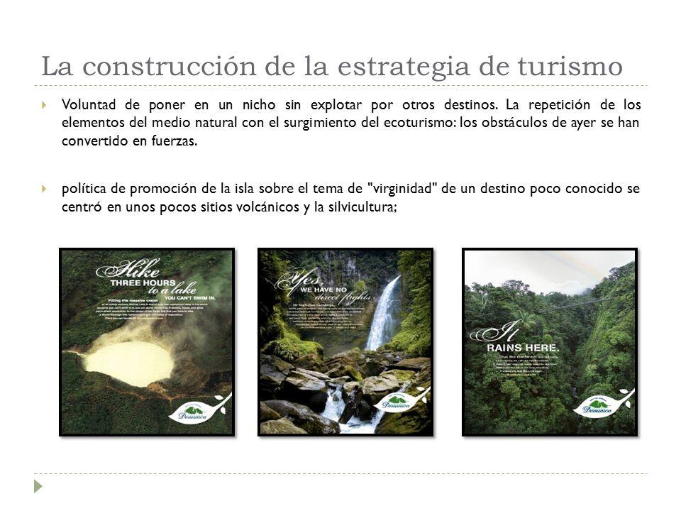 La construcción de la estrategia de turismo  Voluntad de poner en un nicho sin explotar por otros destinos.