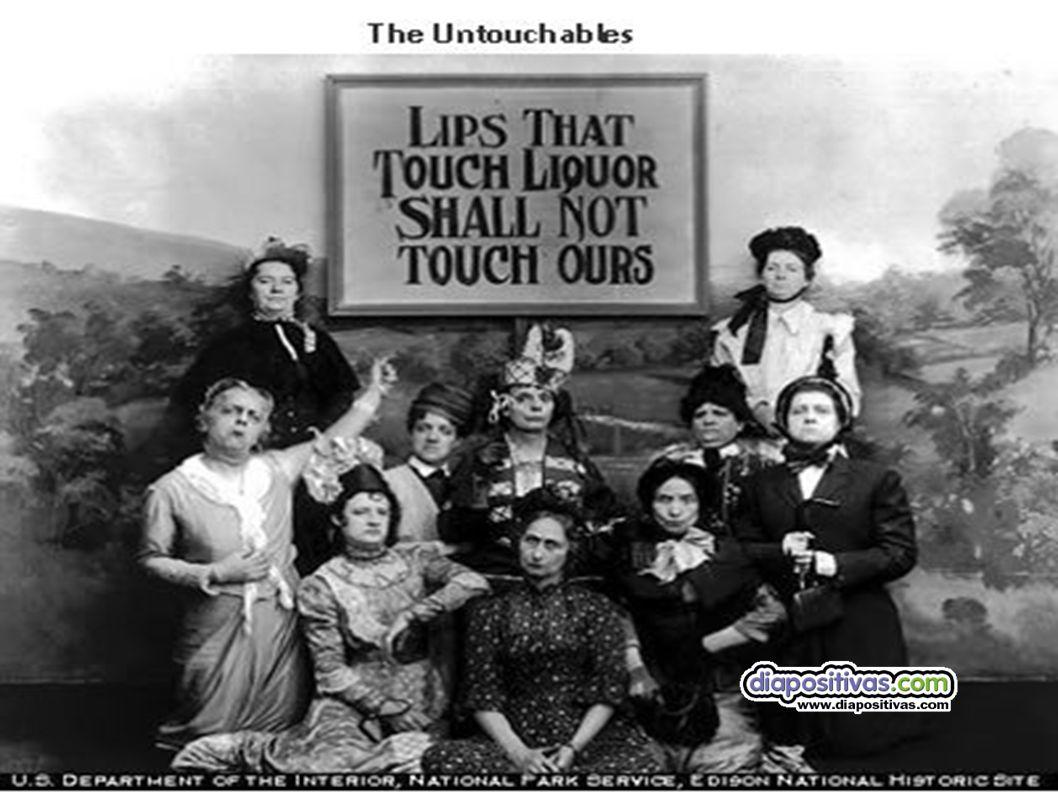 Prohibición: De alcohol El origen del fenómeno se halla en Estados Unidos, El origen del fenómeno se halla en Estados Unidos, donde un fundamentalismo a la vez feminista y racista donde un fundamentalismo a la vez feminista y racista impuso la Ley Seca en enero impuso la Ley Seca en enero de 1920.