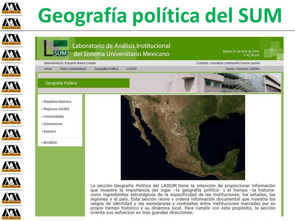 Geografía política del SUM