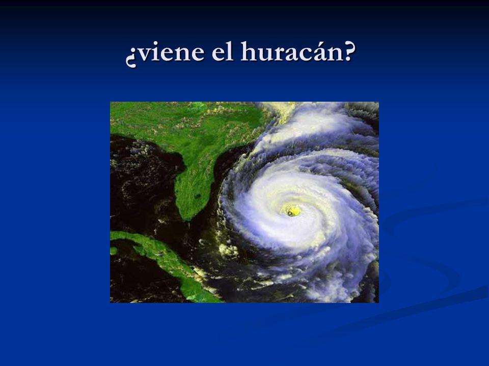 ¿viene el huracán