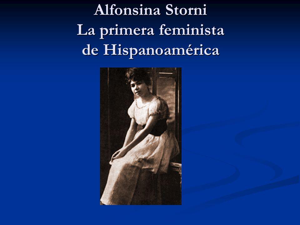 Alfonsina Storni La primera feminista de Hispanoamérica