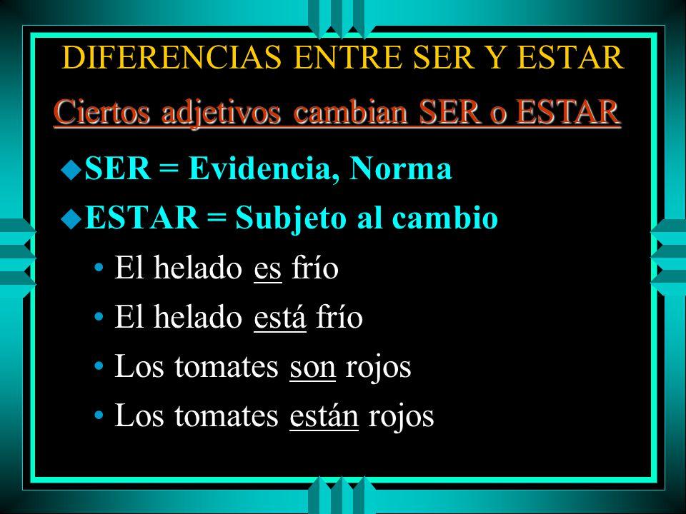 DIFERENCIAS ENTRE SER Y ESTAR u El presente progresivo + Gerundio u AR -> ANDO u ER & IR -> IENDO Yo estoy trabajando ¿Estás estudiando español.