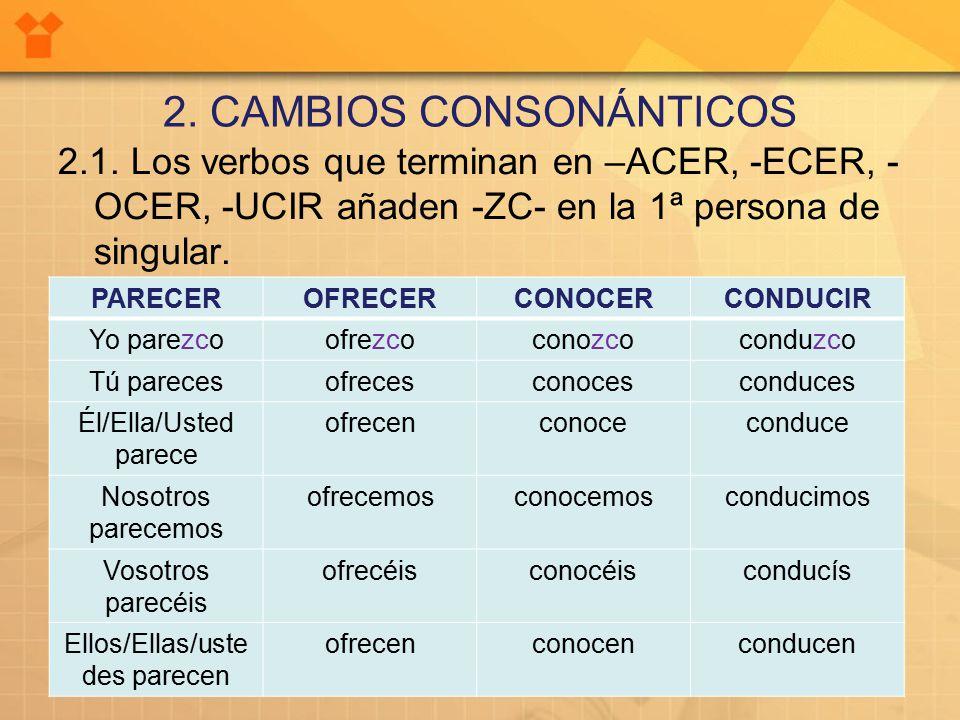 2. CAMBIOS CONSONÁNTICOS 2.1.