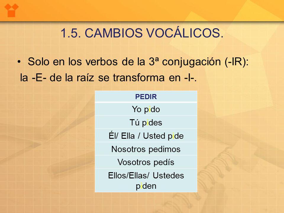 1.5. CAMBIOS VOCÁLICOS.