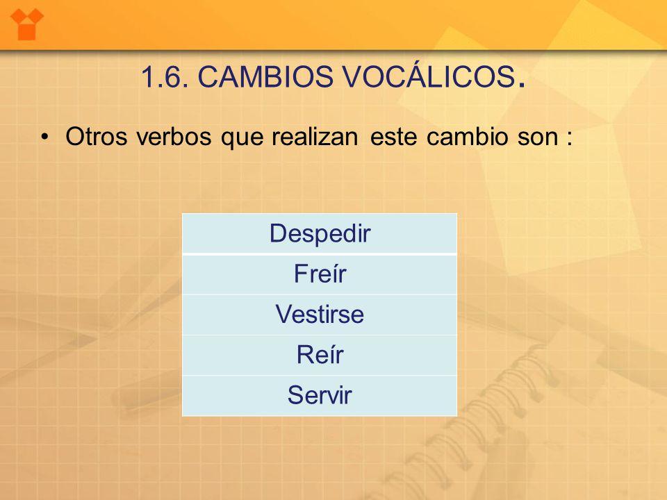 1.6. CAMBIOS VOCÁLICOS.