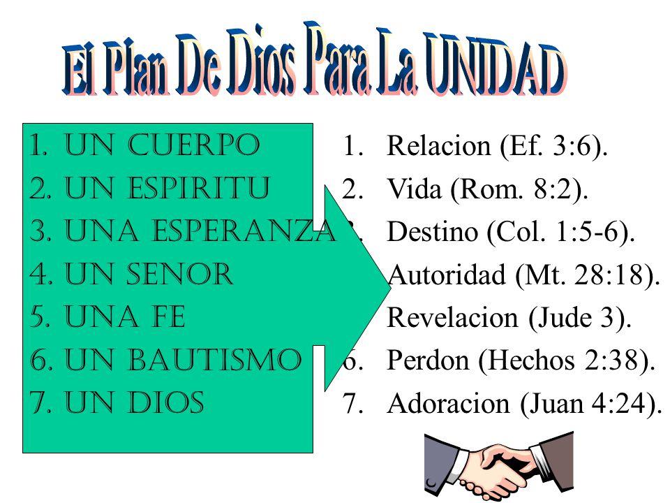 1.Relacion (Ef. 3:6). 2.Vida (Rom. 8:2). 3.Destino (Col.