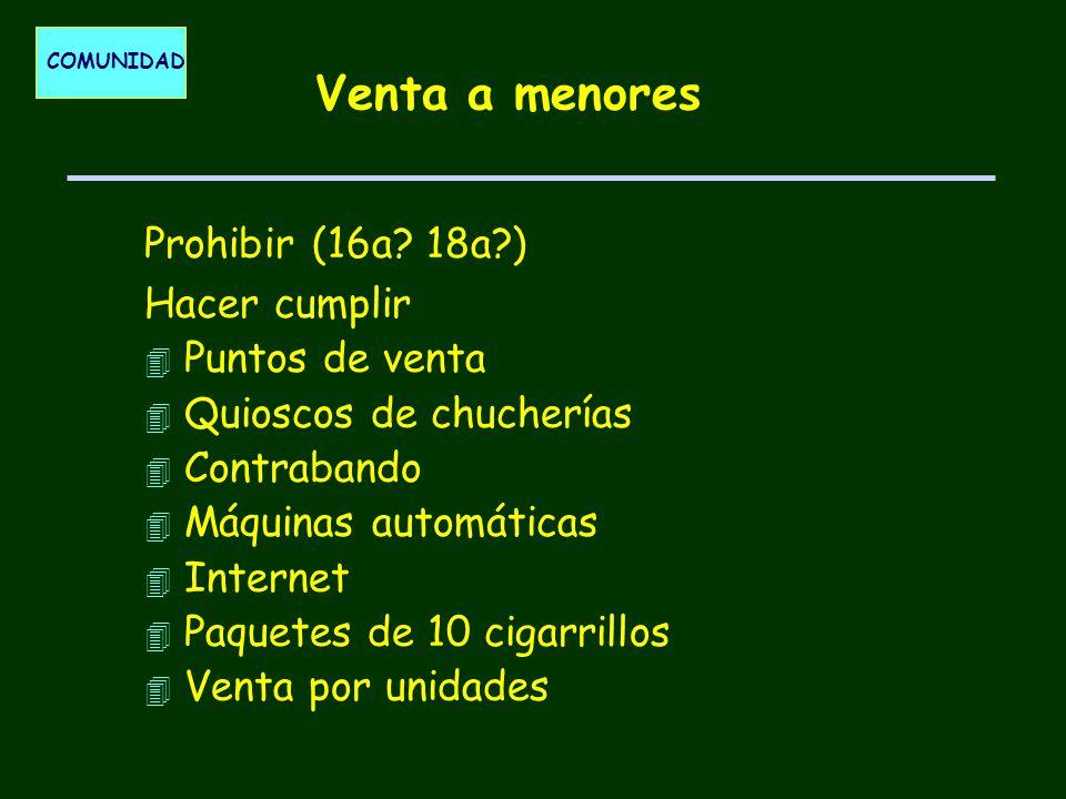 COMUNIDAD Venta a menores Prohibir (16a.