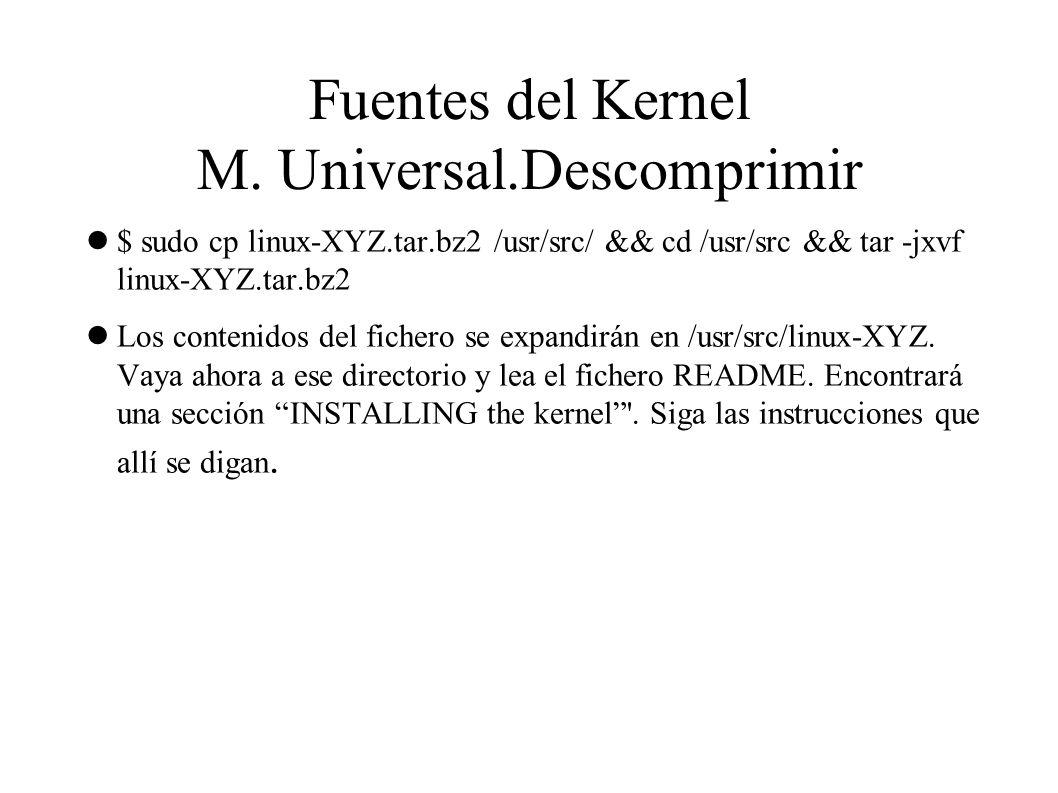 Fuentes del Kernel M.