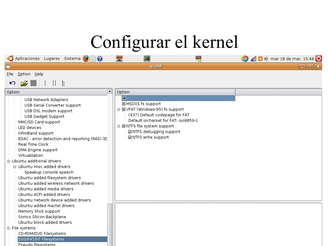 Configurar el kernel
