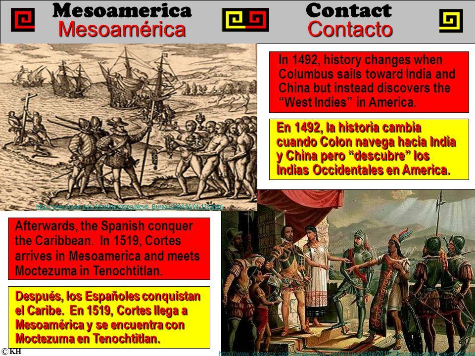 En 1492, la historia cambia cuando Colon navega hacia India y China pero descubre los Indias Occidentales en America.