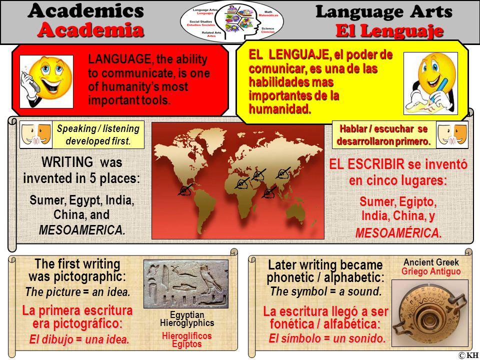 Academia El Lenguaje Academics Language Arts Academia El Lenguaje LANGUAGE, the ability to communicate, is one of humanity's most important tools.