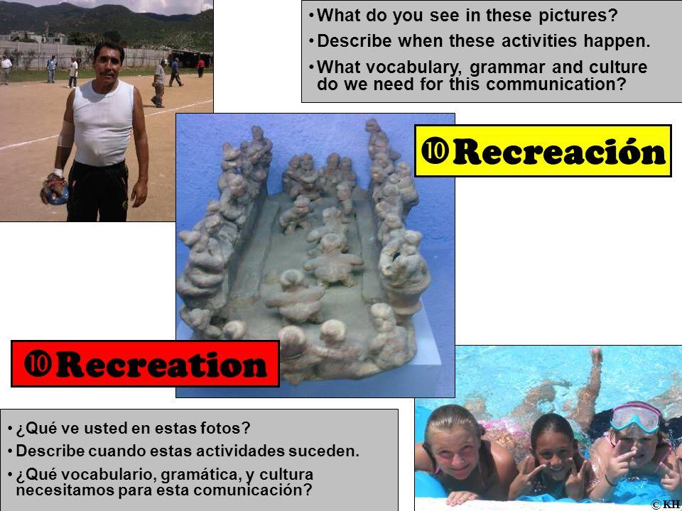 ¿Qué ve usted en estas fotos. Describe cuando estas actividades suceden.