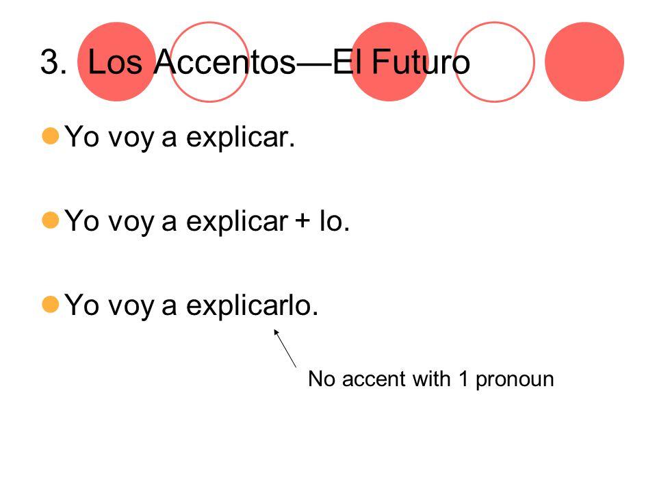 3. Los Accentos—El Futuro Yo voy a explicar. Yo voy a explicar + lo.