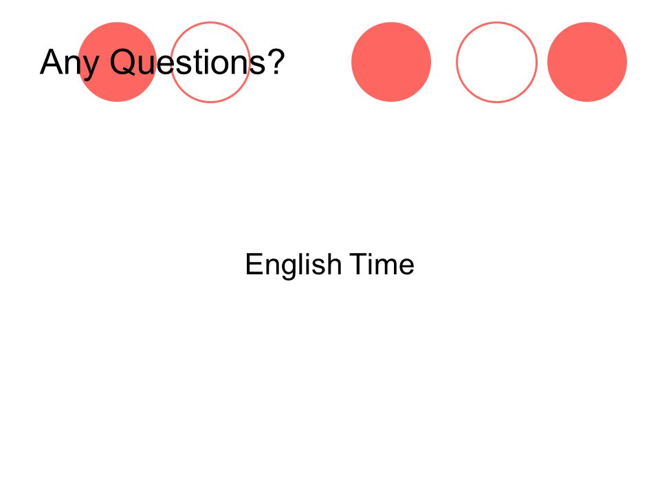 Any Questions English Time
