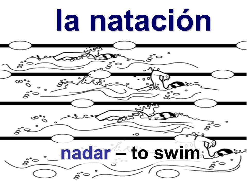 la natación la natación nadar nadar – to swim
