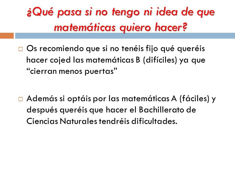 ¿Qué pasa si no tengo ni idea de que matemáticas quiero hacer.