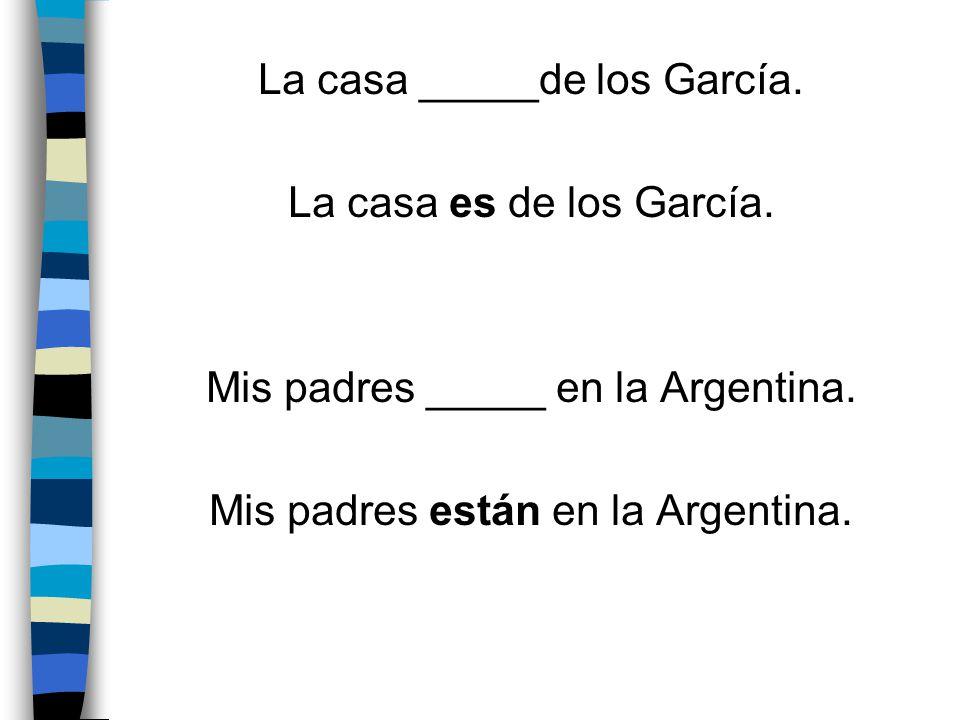 La casa _____de los García. La casa es de los García.