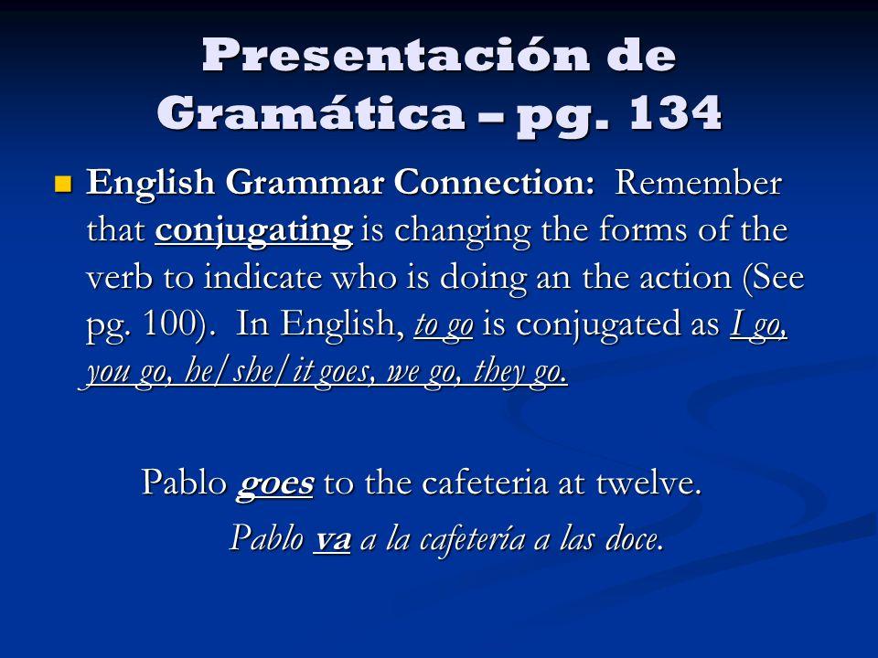 Presentación de Gramática – pg.
