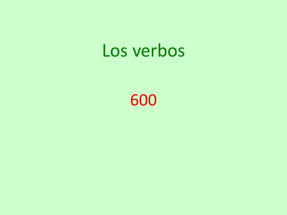 Los verbos 600