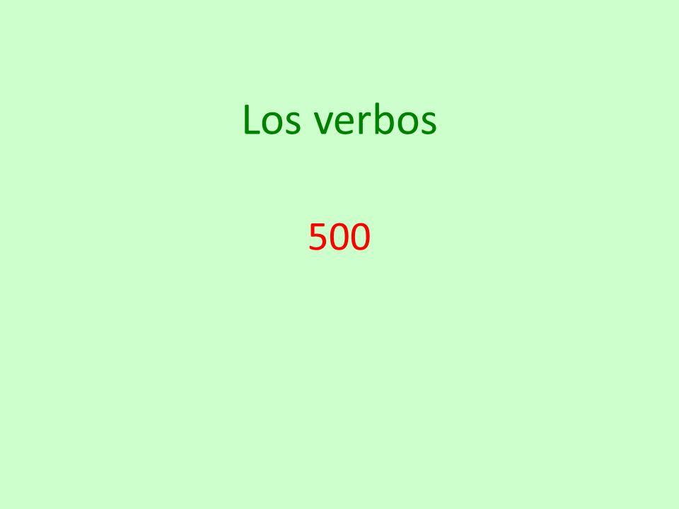 Los verbos 500