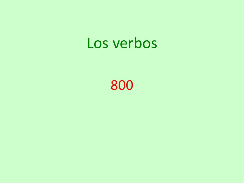 Los verbos 800