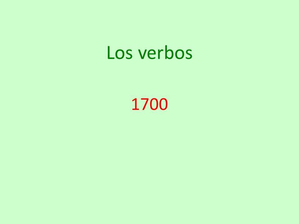 Los verbos 1700