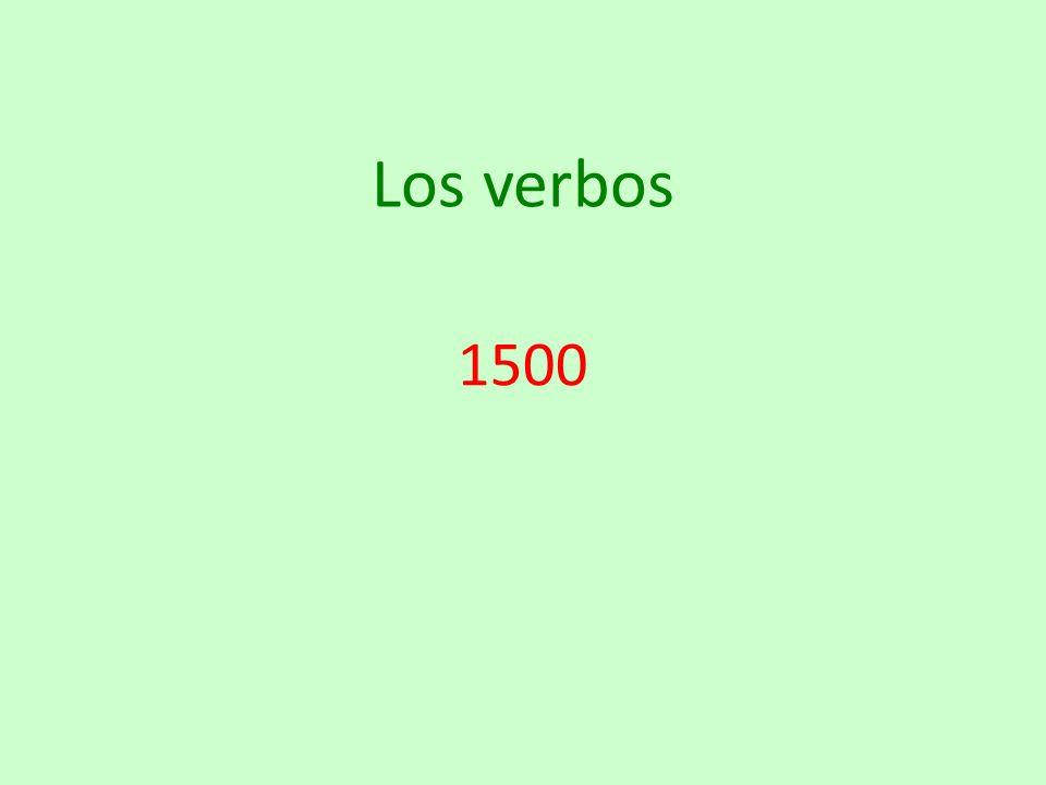 Los verbos 1500