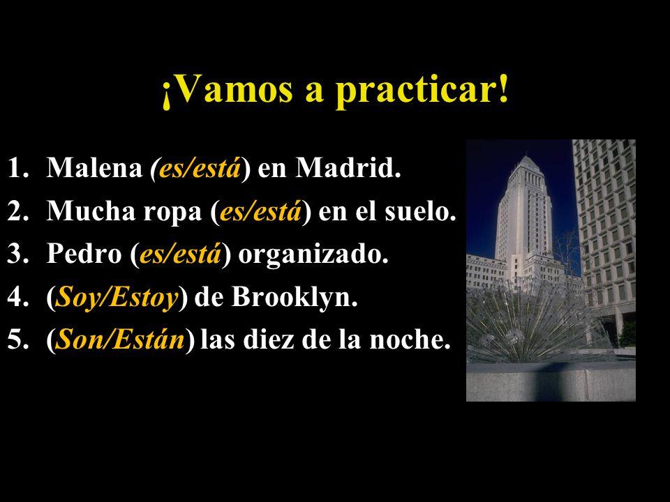 Poesía de Ser vs. Estar How you feel and where you are, that is when you use estar.