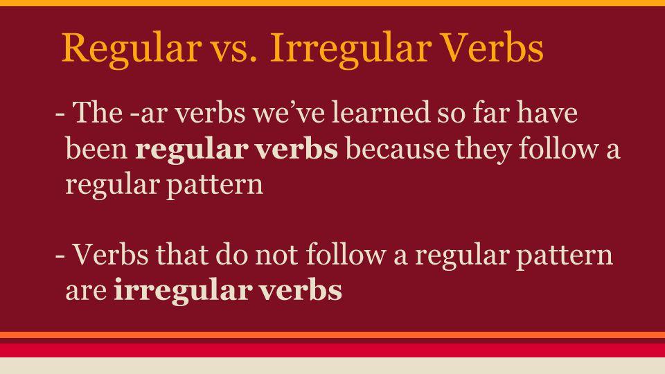 Regular vs.