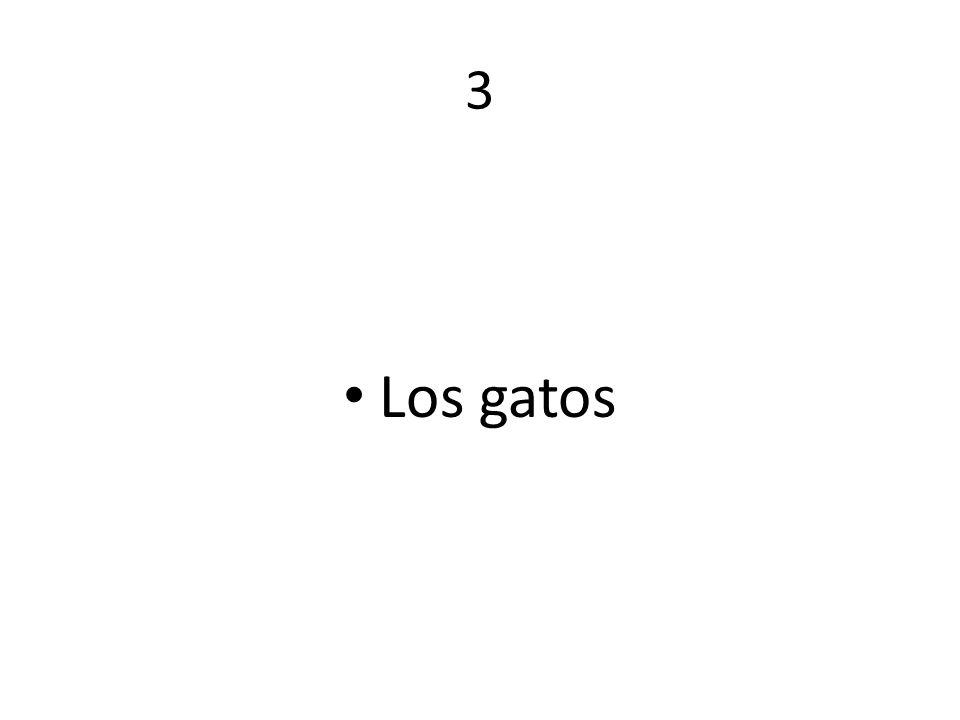 3 Los gatos
