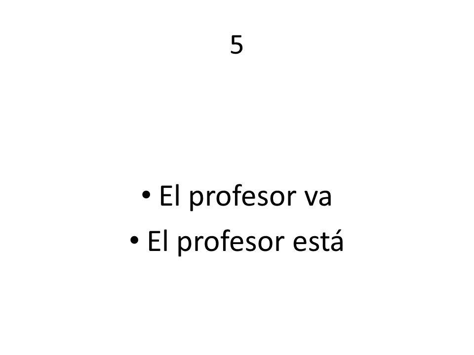 5 El profesor va El profesor está