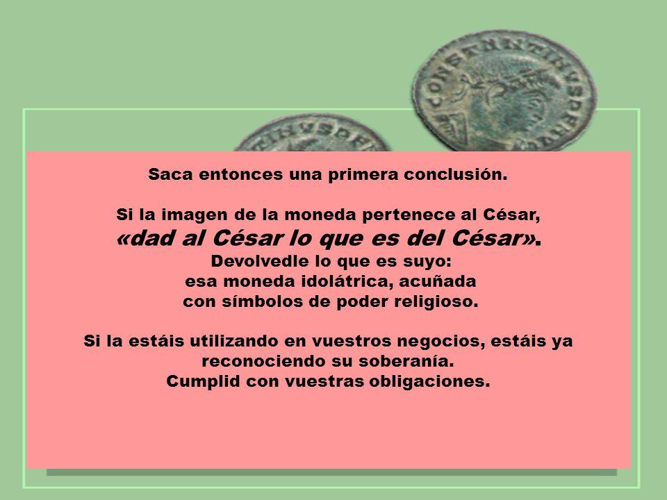 Los adversarios reconocen Los adversarios reconocen que la imagen es del César como dice la inscripción: que la imagen es del César como dice la inscripción: Tiberio César, Hijo augusto del Divino Augusto.
